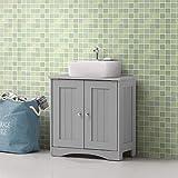 Bathroom Sink <span class='highlight'>Cabinet</span> Under <span class='highlight'>Basin</span> Unit Cupboard Storage Furniture Grey