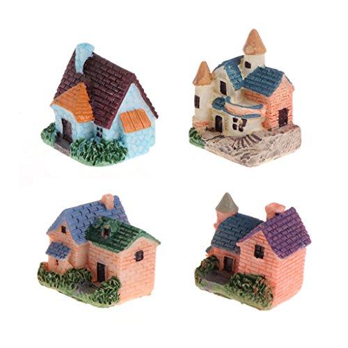 Lunji 4pcs Grenouille Résine - Miniature Ornement Fée Jardin - Décoration de Table/Noël