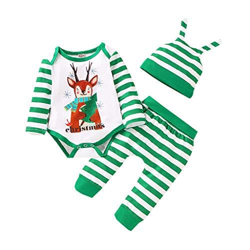 Baby Jongens Meisjes Kerstmis Romper Katoen Dikke Jumpsuit Bovenkleding Lange Mouw Leuke Cartoon Herten Outfits voor 0-18 Maanden