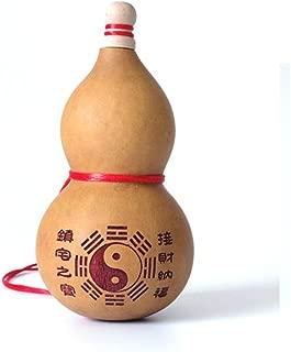 One Big Feng Shui Natural Wu Lou Wu Lu Gourd Charm Amulet W Bagua + Free Red String Bracelet E2021