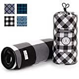 Black and White Checkered Picnic & Outdoor Blanket by Laguna...