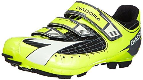 Diadora X TRIVEX - Calzado de ciclismo unisex, Amarillo (Negro/Amarillo fluo/Blanco 3444), EU 50