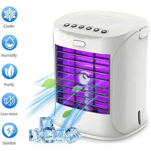 Klimaanlage Kühler Desinfektionsmittel UV-Licht Sterilisator, Luftbefeuchter, Luftkühler Schreibtischlüfter Kühlung mit tragbarem Griff für Home Office Room