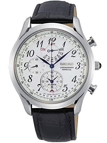 Seiko Cronografo Allarme Perpetuo Quarzo Quadrante Bianco Uomo Orologio SPC253P1