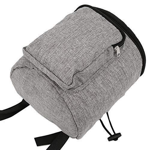 Organizador colgante de carro de bebé de tela Oxford y tela de lino para guardar otros artículos(Linen gray bag)