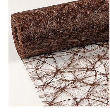 Sizoweb braun dunkelbraun Tischdeko Tischband Tischläufer Tischdecke Vlies Deko 150cm lang, 30cm breit