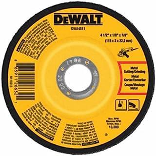 4 1//2 in Dia Hardness Grade S Depressed Center Wheel 210 Pack 7//8 Arbor 1//4 in Thick