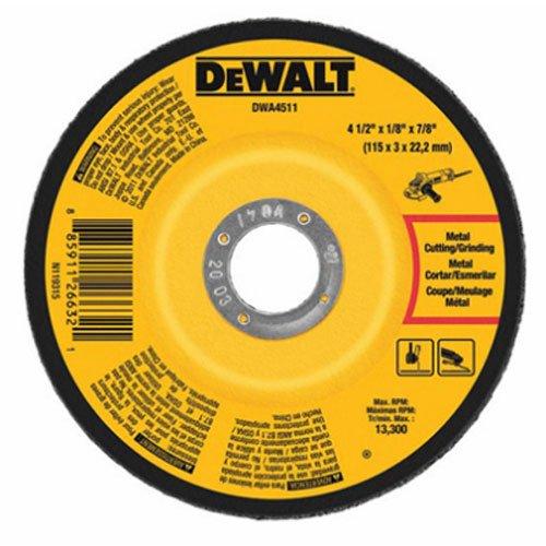 DEWALT DWA4511 Metal Grinding Wheel, 4-1/2-Inch x 1/8-Inch x 7/8-Inch