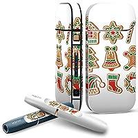 IQOS 2.4 plus 専用スキンシール COMPLETE アイコス 全面セット サイド ボタン デコ クリスマス 雪 結晶 009965