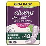 Always Discreet Inkontinenzeinlagen Normal (12 Binden) Diskreter Schutz & hohe Saugstärke, Geruchsneutralisierend -