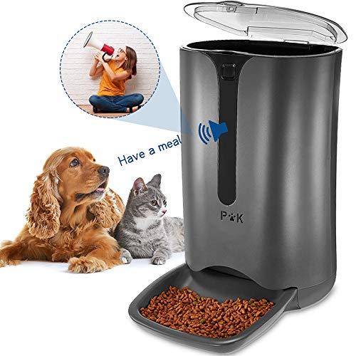 PUPPY KITTY 7L Automatischer Futterautomat für Katze und Hund, Automatischer Futterspender mit Timer mit bis zu 4 Mahlzeiten am Tag,LCD Bildschirm und Ton-Aufnahmefunktion
