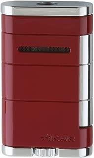 Xikar Allume Single Jet Flame Cigar Lighter, Durable Body, Fuel Gauge, Riot Red