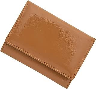 極小財布 進藤やす子コラボ「エナメルキャメル×メタリックゴールド」BECKER 日本製 ミニ財布/三つ折り財布