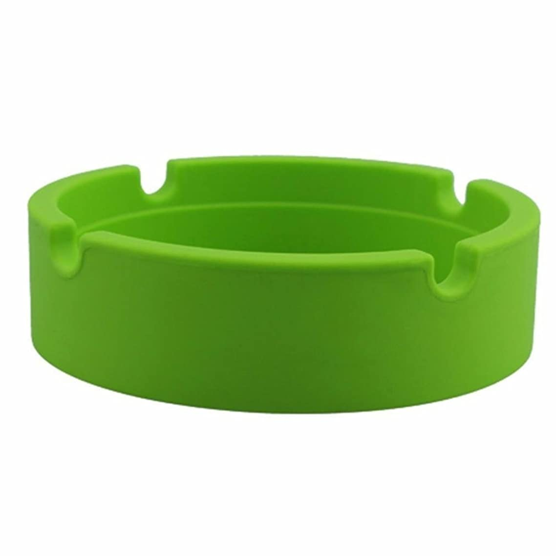 Silicone Ashtray, Iuhan Round Eco-Friendly Colorfull Premium Silicone Rubber Tobacco Tray (Green)