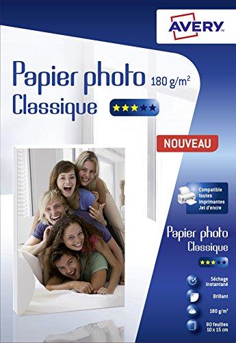 Avery C2570-80 - 80 Fogli di carta fotografica lucida, colore: Bianco