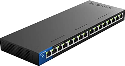 Linksys Business LGS116 16-Port Desktop Gigabit Ethernet Unmanaged Network Switch I Metal Enclosure