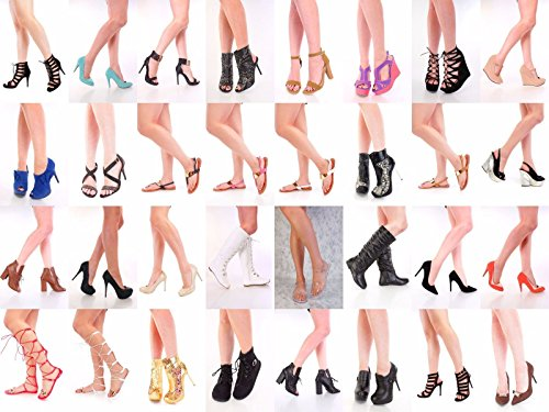 WHOLESALE LOT 60 New Women Fashion High Heels Platform Wedge Pumps sandals shoes(All sizes 5.5-11 24 Pairs Mix & Match New With Box)
