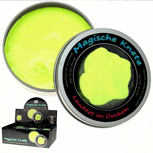 Schnooridoo 1 gelbe Magische Knete Glow in The Dark Magic Leuchtknete