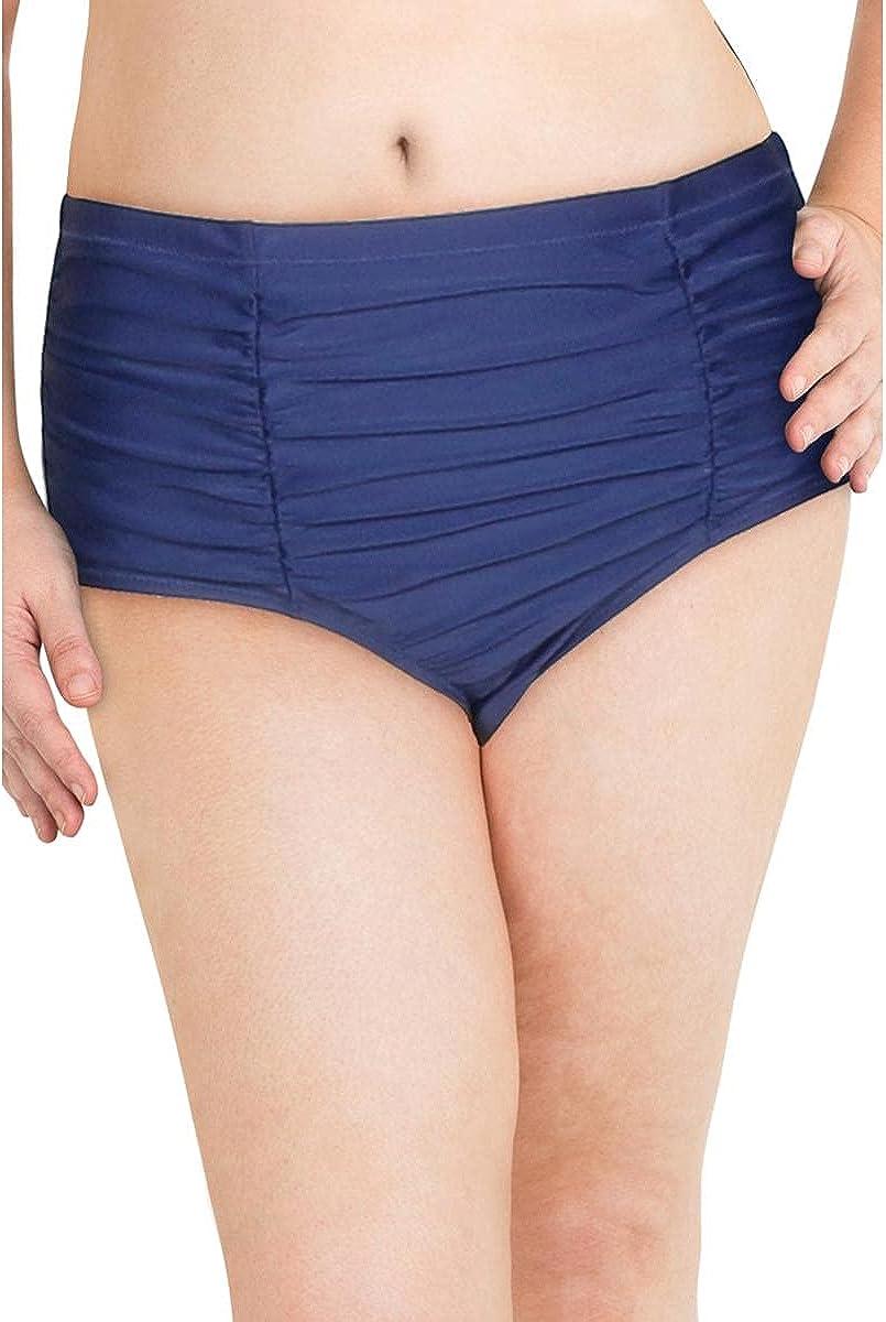 Raisins Curve Women's Caribe Solids Costa High Waist Brief Swim Bottom D840061