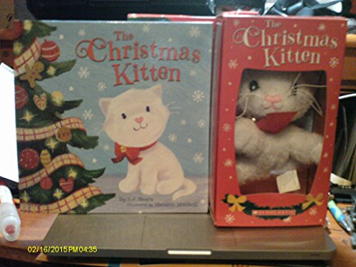 The Christmas Kitten-new Hardcover Book and Cute Plush Kitten