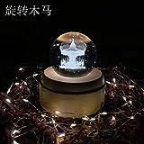 certainPL Rotating Crystal Ball, 3D Crystal Ball Music Box, Dandelion Musical...