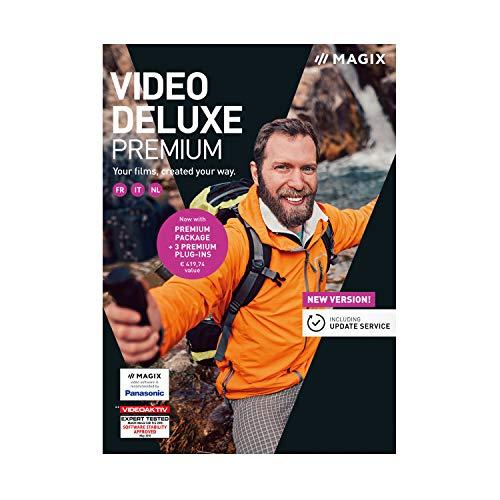 MAGIX Vidéo deluxe 2019 Premium – Création de films personnalisés   Standard   PC   Code d'activation PC - envoi par email