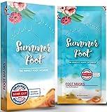 SUMMER FOOT Premium Fußmaske zur Entfernung von Hornhaut I Samtweiche und zarte Füße nach nur einer Anwendung I Dermatologisch getestet I deutsche Anleitung