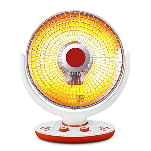 Mqing Infrarrojos De Oscilación Calentador De Ventilador, Oscilante Calefactor con Termostato, Eléctrico Interior Calentador De Ventilador-Tubo halógeno B+Tubo de Repuesto