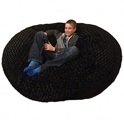 SLACKER sack Foam Beanbag Chair, 6', Black