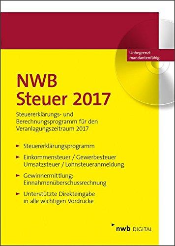 NWB Steuer 2017: Steuererklärungs- und Berechnungsprogramm für den Veranlagungszeitraum 2017. Einplatzlizenz.
