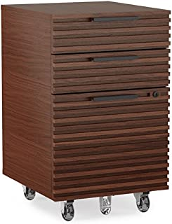 BDI Corridor Mobile File Pedestal, Chocolate Stained Walnut