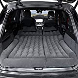 Car Mattress Camping Mattress for Car Sleeping Bed Travel Inflatable Mattress Air Bed for Car Universal SUV Extended Air Couch with Two Air Pillows (Black)