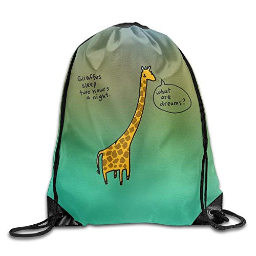 Yuanmeiju Cool Mochila con cordón Cute Giraffe Art Design Print Mochila con cordón Rucksack Shoulder Bags Bolsa de Gimnasio Giraffe 22