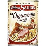 William Saurin - La choucroute garnie au vin Blanc - La boîte de 400g - (pour la quantité Plus Que 1 Nous Vous remboursons Le Port supplémentaire)