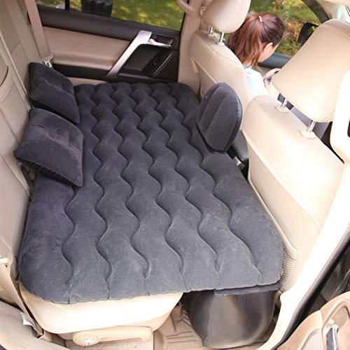 LTE Tragbare Matratze aufblasbares Sofa Auto ReisebettAufblasbarer Rücksitz Pad multifunktionales Sof Car Kissen Faltbar für Auto, Schwarz