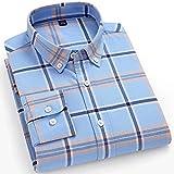 XJJZS Camisas de rayas para hombre de algodón puro Oxford Tela Escocesa de negocios Casual Hombre largo Hombre de  Camisa (Color : M, Size : 39 170CM 60KG)