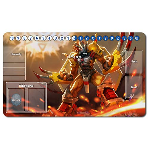 692915de - Digimon Spielematten , Digimon playmat Brettspiel Digimon Mouse pad MTG Playmat Tischmatte Spiele Größe 60X35 cm Mousepad Spielmatte für TCG CCG Yugioh Digimon Magic The Gathering