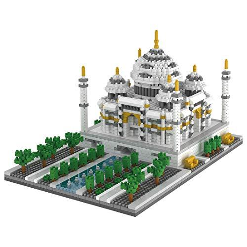 HZYM Architektur Taj Mahal Bausteine, 2169 Stücke Nano Mini Blocks Indien Architekturmodellbausatz, Architecture Modell Nicht Kompatibel mit Lego