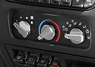 Rugged Ridge 11420.04 Billet Aluminum Climate Control Knob with Red Indicator Light - Pack of 3