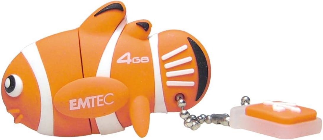 EMTEC M317 Animal Series 4 GB Max 53% OFF Austin Mall Clownfish Flash 2.0 USB Drive