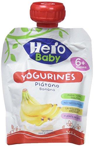 Hero Baby Bolsita Yogurines Plátano para Bebés a partir de 6 meses...