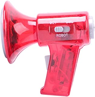 Ganquer Mini Tamaño Niños Juguete de Voz Cambiador Megáfono Efectos de Sonido LED Luces Pequeño Megáfono, como en la imagen, Tamaño libre