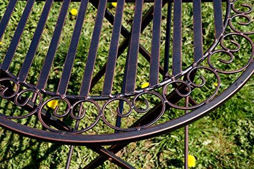 """Exklusive Sitzgruppe """"Eliza"""", Gartentisch mit 2 Stühlen, Gartengarnitur, sehr stabile Metallausführung, klappbar Bild 6*"""