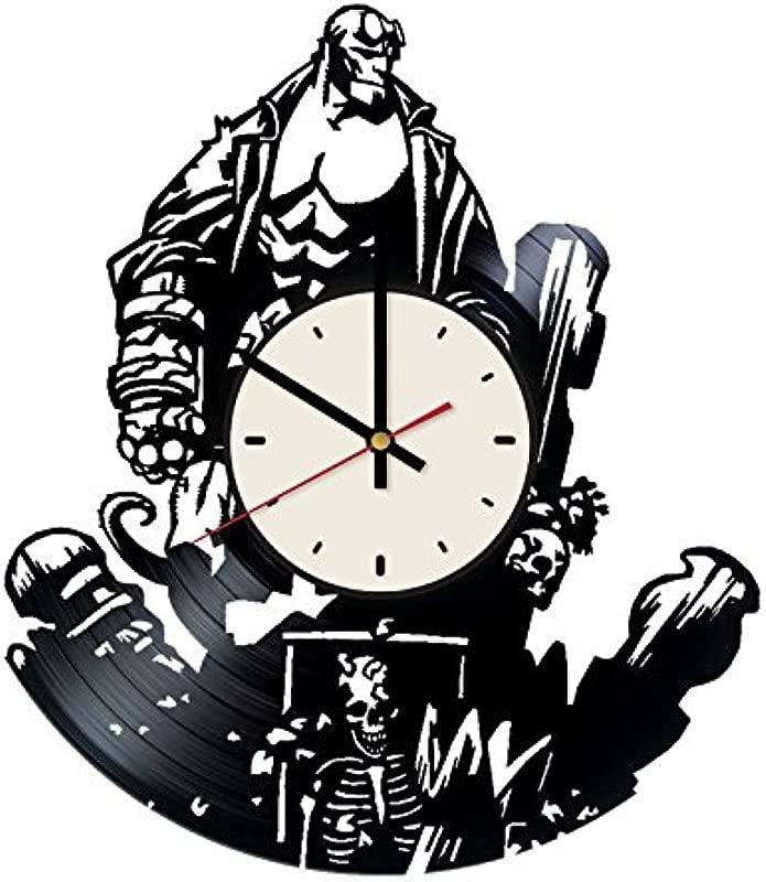 Hellboy Superhero Vinyl Wall Clock Comics Unique Gifts Living Room Home Decor