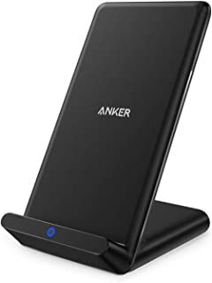 Anker Wireless Charger, Qi-Certified Wireless Charger Compatible iPhone XR/XS Max/XS/X / 8/8 Plus, Samsung Galaxy S9/S9+/S8/S8+/S7/Note 8, and More, PowerPort Wireless 5 Stand (No AC Adapter)