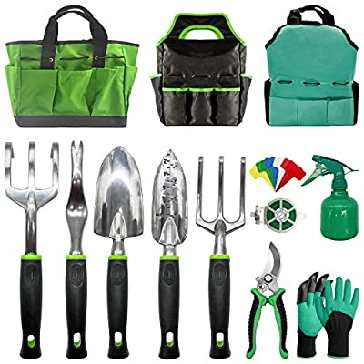 Gardening Tools-Heavy Duty Garden Tools with Gl...