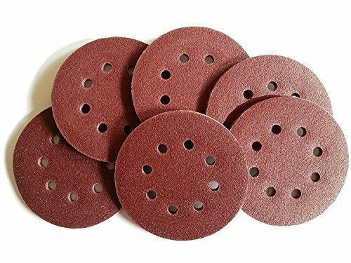 25 Blat Klett/Haft Schleifscheiben für Exzenterschleifer, Ø 125 mm – 8 Loch, Korn 240 / Schleifscheiben/Exzenterschleifpapier