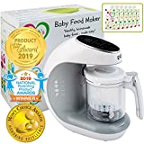 Baby Food Maker | Baby Food Processor Blender Grinder Steamer | Cooks & Blends...