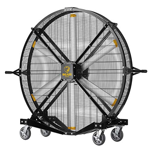 Best Price Black Jack 6-ft Indoor/Outdoor Mobile Fan with Variable Speed Control, OSHA Compliant Steel Cage