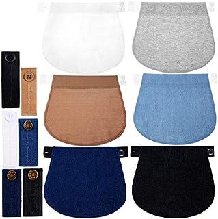 12 Paquetes de Extensor de Pantalón de Maternidad Ajustable Extensor de Pretina de Embarazada Extensores de Cintura Extensores de Botón de Pantalón Elástico de Embarazo para Embarazadas